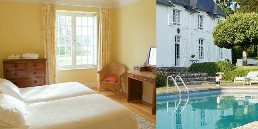 Yellow-bedroom-swimming-pool