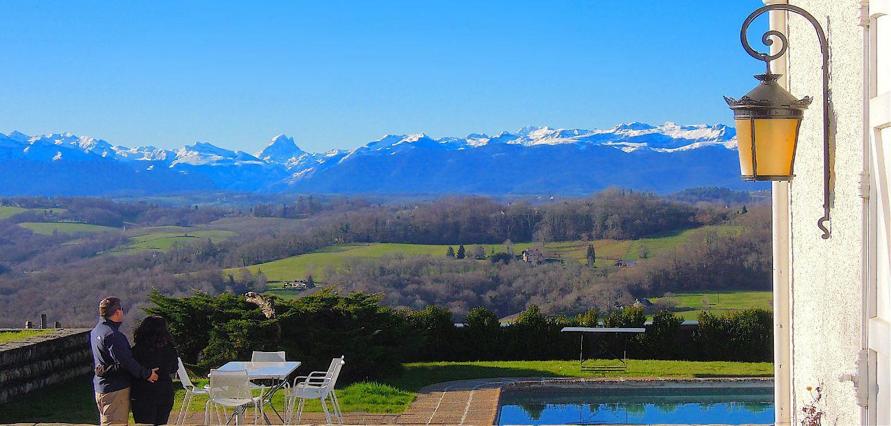 View of the Pyrénées