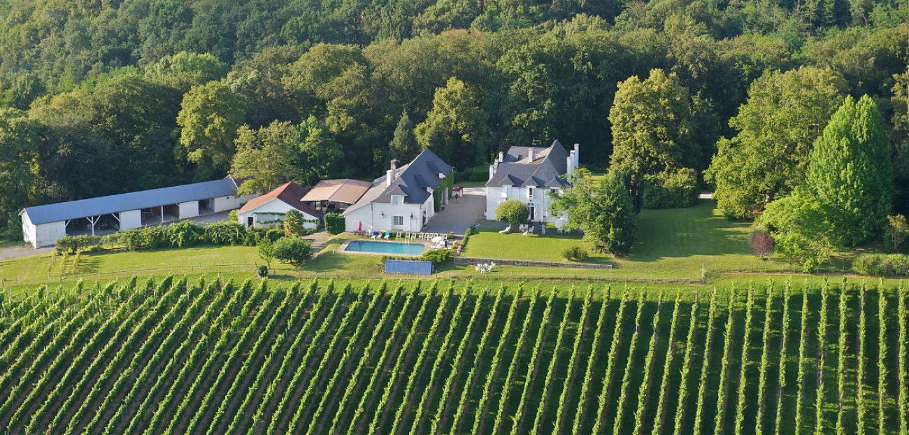View of the Clos Mirabel Manor from the sky.