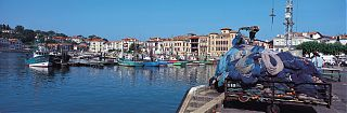 Harbour with fishing boats at St Jean de Luz - France