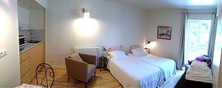 Chambre/Studio avec un lit de 160cm ou 2 lits simples & Cuisinette