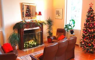 maison-décoré-pour-noel-arbre-de-noel